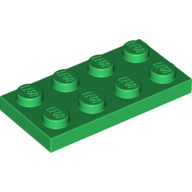 [New] Plate 2 x 4, Green. /Lego. Parts. 3020